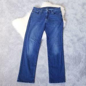 Lucky Brand 363 Straight Dark Wash Jeans